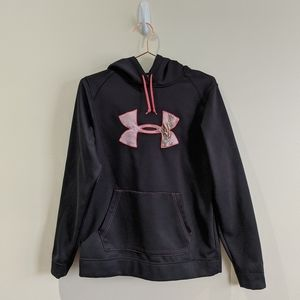 Under Armour | Black Pink Hoodie Camo Logo Tackle
